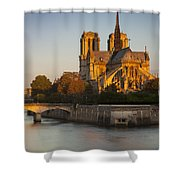 Sunrise Over Notre Dame Shower Curtain