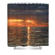 Sunrise Over Ripples Shower Curtain
