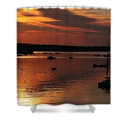Sunrise Over Southwest Harbor Shower Curtain