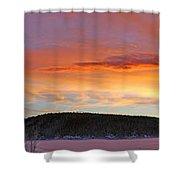 Sunrise Over Teslin Lake, Yukon Shower Curtain