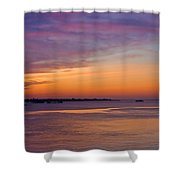 Sunrise Over The Mekong. Shower Curtain