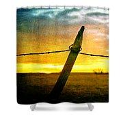 Sunrise Over The Prairie Shower Curtain