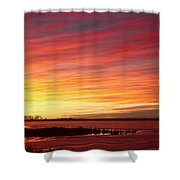 Sunrise Over Union Reservoir In Longmont Colorado Boulder County Shower Curtain
