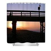 Sunrise Pier Ventura Shower Curtain by Henrik Lehnerer