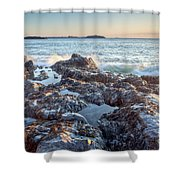 Sunrise Rocks Shower Curtain
