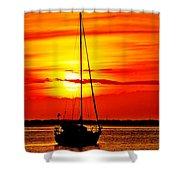 Sunrise Sailing Shower Curtain