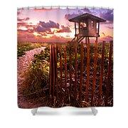 Sunrise Sentinel Shower Curtain