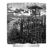 Sunrise Sentinel In Black And White Shower Curtain