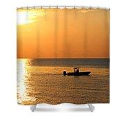 Sunrise Sport Fishing Shower Curtain