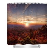 Sunrise-talimena Scenic Drive Arkansas Shower Curtain by Douglas Barnard