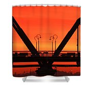 Sunrise Walnut Street Bridge Shower Curtain