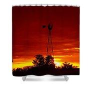 Sunrise Windmill 1 C Shower Curtain