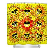 Suns Party Shower Curtain