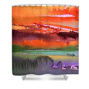 Sunset 04 Shower Curtain