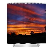 Sunset 2   09 22 12 Shower Curtain