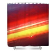 Sunset Above The Clouds Shower Curtain