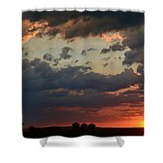 Sunset After The Thunderstorm Shower Curtain