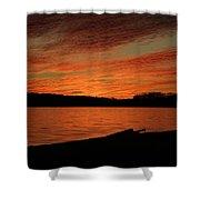 Sunset And Kayak Shower Curtain