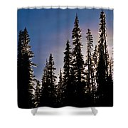 Sunset And Stars Shower Curtain
