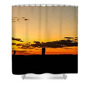 Sunset Arches Shower Curtain