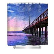 Sunset At Avila Beach Shower Curtain