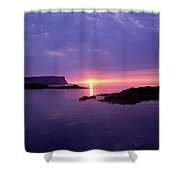 Sunset At Benbane Head On The North Shower Curtain