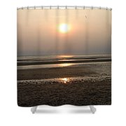 Sunset At Campground Beach Eastham Ma Cape Cod Shower Curtain