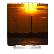 Sunset At Cape Cod Shower Curtain