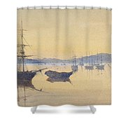 Sunset At Constantinople Shower Curtain by M Baillie Hamilton