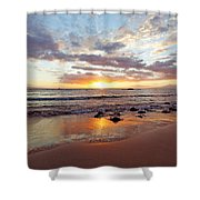 Sunset At Cove Park Shower Curtain