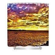 Sunset At Danshui Hdr Shower Curtain