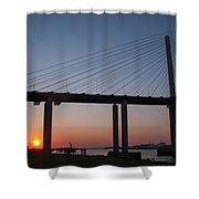 Sunset At Dartford Bridge Shower Curtain
