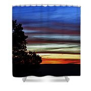 Sunset At Desert View Along The Grand Canyon Shower Curtain