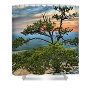 Sunset At Hanging Rock Shower Curtain