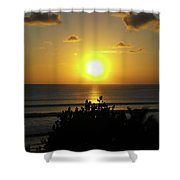 Sunset At Kuta Beach Shower Curtain