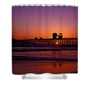 Sunset At Oceanside Pier Shower Curtain