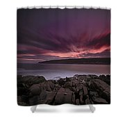 Sunset At Otter Point Shower Curtain
