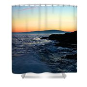 Sunset At Schoodic Shower Curtain