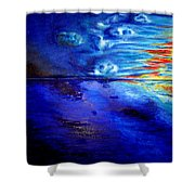 Sunset At Sea By Ted Jec. Shower Curtain