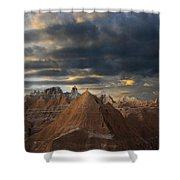 Sunset At The Badlands Shower Curtain