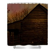Sunset At The Barn Shower Curtain