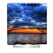 Sunset At The Bayonne Bridge Shower Curtain