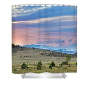 Sunset At The Colorado High Park Wildfire  Shower Curtain