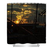 Sunset At The Georgia State Fair Shower Curtain