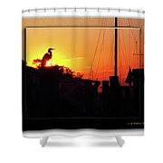 Sunset At The Granary Shower Curtain