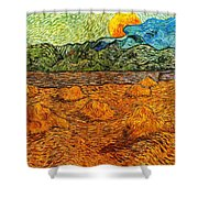 Sunset At The Hills Shower Curtain