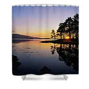 Sunset At The Lake, Kenmare, Ring Of Shower Curtain