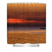 Sunset At The Sea Shower Curtain