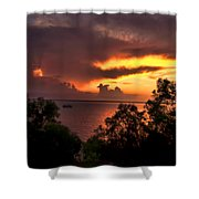 Sunset At The Top-end Shower Curtain