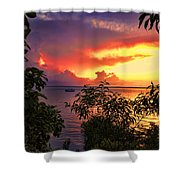 Sunset At The Top-end V2 Shower Curtain